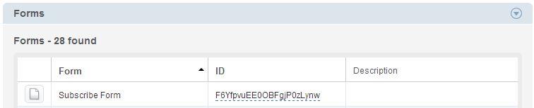 API IDs