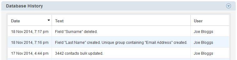 Database Edit History