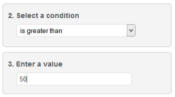 Filter conditions remember input