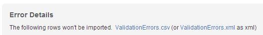 Download Import Errors