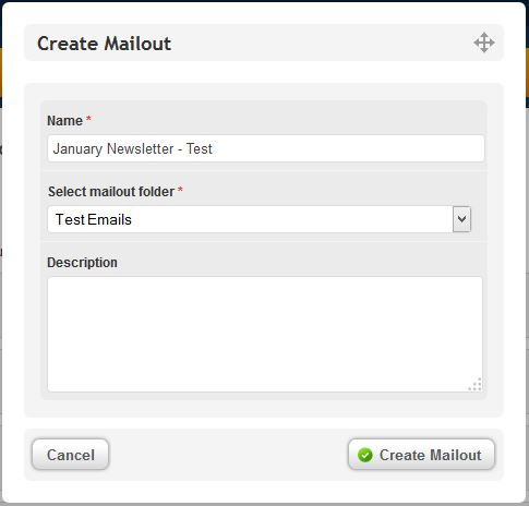 Copy Mailout and choose folder