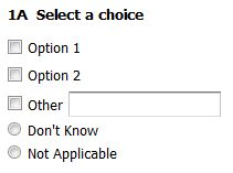 Survey Don't Know Options