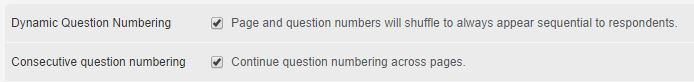 Dynamic and Consecutive Numbering in Surveys