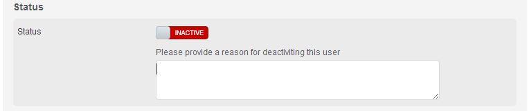 Deactivate User